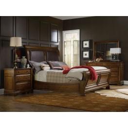 Tynecastle Brown Sleigh Bedroom Set