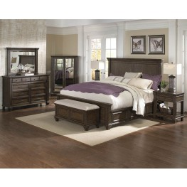 Gallatin Timeworn Mahogany Storage Bedroom Set