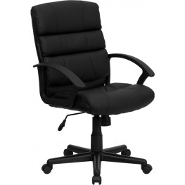 Eco-Friendly Black Swivel Office Chair