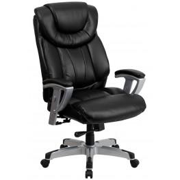 1000923 HERCULES Big & Tall Black Arm Office Chair