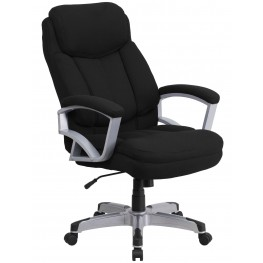 HERCULES Big & Tall Black Fabric Executive Office Chair