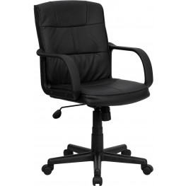 Eco-Friendly Black Office Chair With Nylon Arms (Min Order Qty Required)