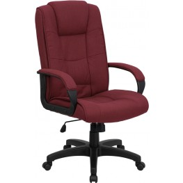 1000943 High Back Burgundy Fabric Executive Office Chair