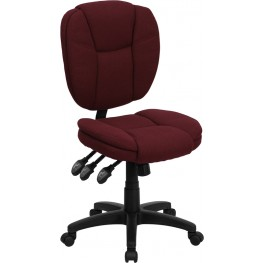 Burgundy Multi Functional Ergonomic Task Chair