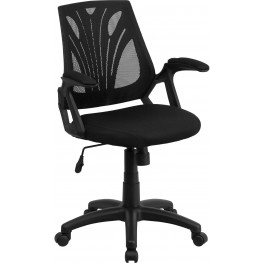 31858 Mid-Back Black Padded Seat Swivel Task Chair