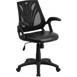 31857 Mid-Back Black Padded Seat Swivel Task Chair