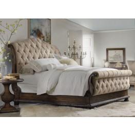 Rhapsody Beige Tufted Sleigh Bedroom Set