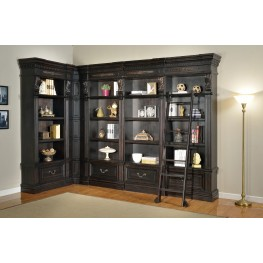 Grand Manor Palazzo L-Shape 4pc Long Bookcase