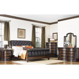 Grand Estates Cinnamon Sleigh Bedroom Set
