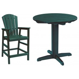 "Generations Green 32"" Round Pedestal Pub Set"