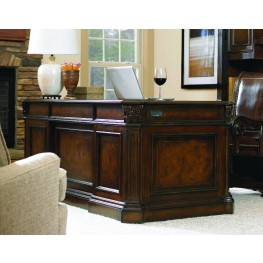 European Renaissance II Brown 73'' Home Office Set