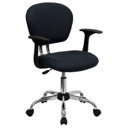 Mid-Back Gray Arm Task Chair (Min Order Qty Required)