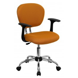 Mid-Back Orange Arm Task Chair (Min Order Qty Required)