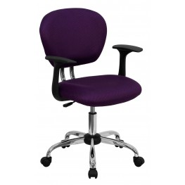 Mid-Back Purple Arm Task Chair