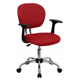 Mid-Back Red Arm Task Chair (Min Order Qty Required)