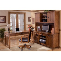 Cross Island Credenza w/ Hutch Home Office Set