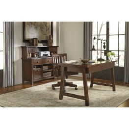 Wassner Dark Brown Home Office Set