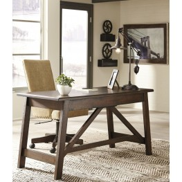 Baldridge Rustic Brown Home Office Set