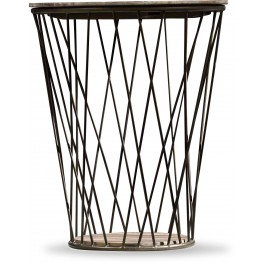 Studio 7H Brown and Black Round Accent Table