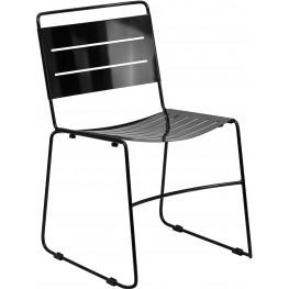 HERCULES Black Indoor-Outdoor Stack Chair