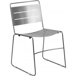 Hercules Silver Indoor-Outdoor Stack Chair (Min Order Qty Required)