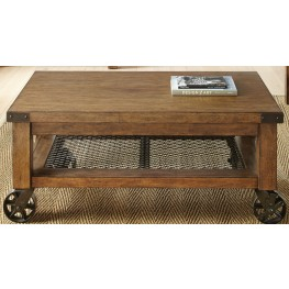 Hailee Industrial Cocktail Table