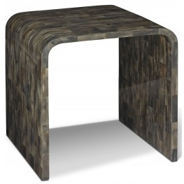 Hayden Black Horn End Table