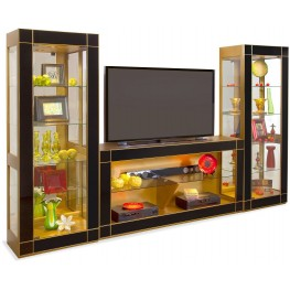 Halo Altair II Antique Gold Entertainment Wall