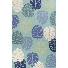 "Harbor Turquoise Palms 114"" X 90"" Rug"
