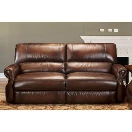 Hawthorne Brown Wipe Dual Power Reclining Sofa