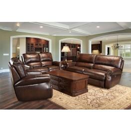 Hawthorne Brown Wipe Dual Power Reclining Living Room Set