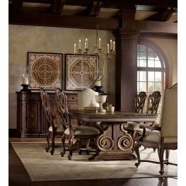 Adagio Dark Wood Rectangular Dining Room Set