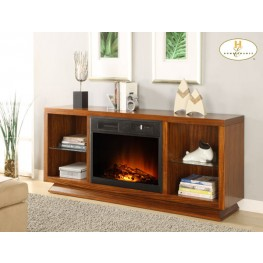 Crystal Fireplace TV Stand