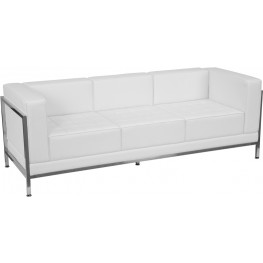 Hercules Imagination Series White Leather Sofa