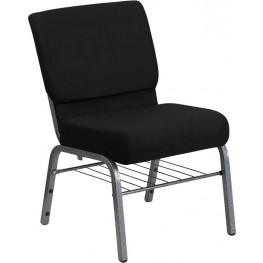 Hercules Series Extra Wide Black Church Chair