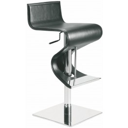 Portland Black Leather Adjustable Stool