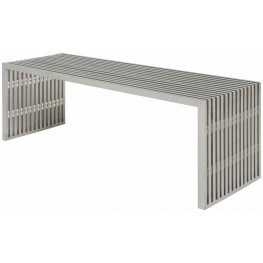 Amici Stainless Metal Occasional Bench