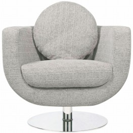 Simone Grey Fabric Lounger Chair