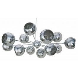 Sylvie Chrome Glass Pendant