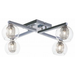 Estelle 4 Glass Metal Ceiling Light