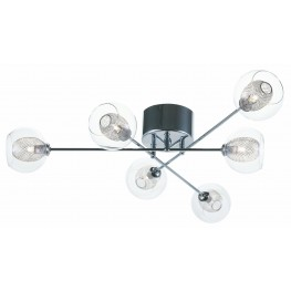 Estelle 6 Glass Metal Ceiling Light