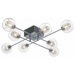 Estelle 8 Glass Metal Ceiling Light