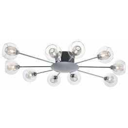 Estelle 10 Glass Metal Ceiling Light