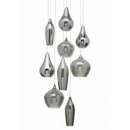 Emma Smoke Grey Glass Pendant