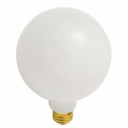 G80 White Glass Light Bulb