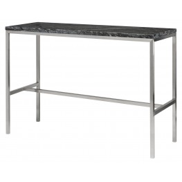 "Verona 36"" High Black Stone Bar Table"