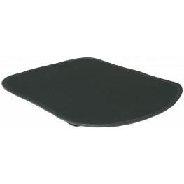 Swerve Black Naugahyde Chair Cushion