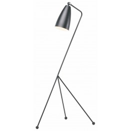 Lucille Black and Black Metal Floor Lamp