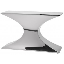 Praetorian Silver Polished Stainless Steel Console Table