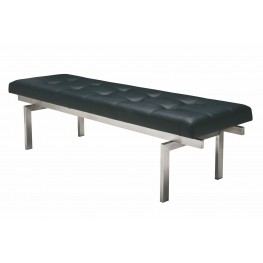 Louve Large Black and Silver Metal Occasional Bench